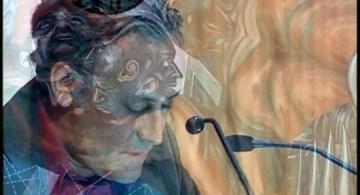 """Gabriel Orozco, durante su ponencia """"La mano de uno"""", como invitado a la Cátedra Julio Cortázar, en el Paraninfo Enrique Díaz de León de la UdeG, 2005"""