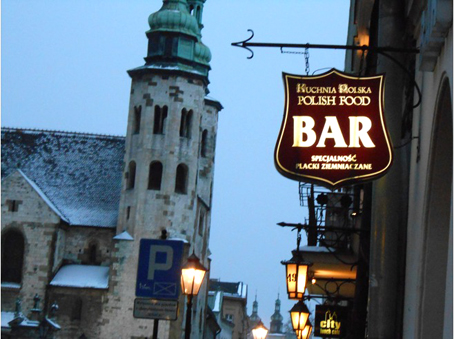 Un bar en Cracovia.