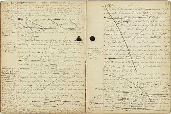 Manuscrito de Proust.
