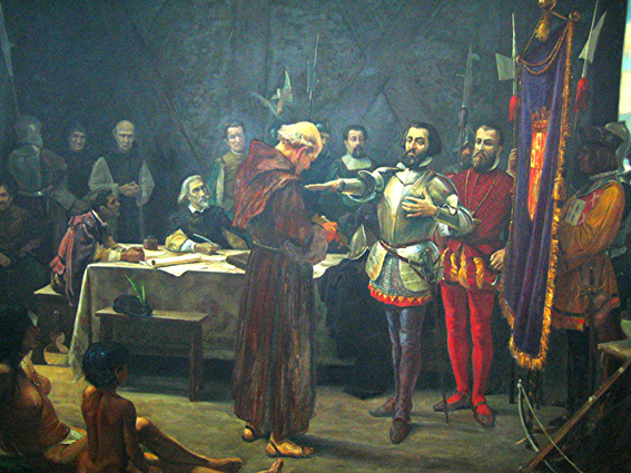 El juramento de Cortés.
