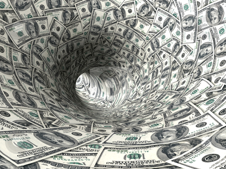 La llegada de los dólares.