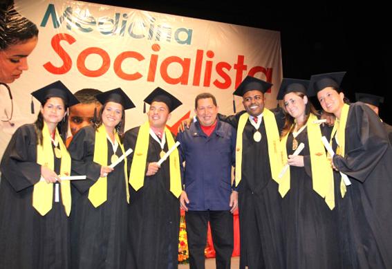 """""""En la Revolución Bolivariana hemos creado 22 universidades y este año inauguraremos tres más"""",  dijo en septiembre de 2012 Hugo Chávez, en el estado de Mérida."""