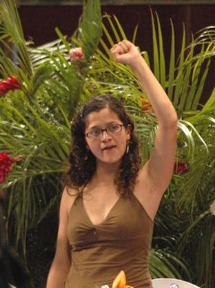 Lucía Morett, admiradora de las FARC.