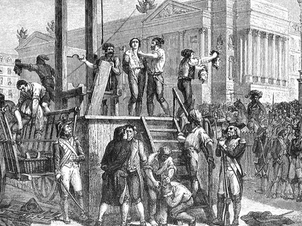 La era del terror instaurada por Robespierre.
