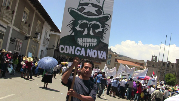 "Cajamarca, ""Conga no va""."