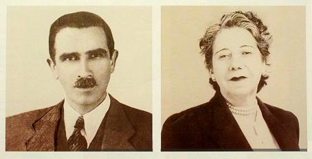 Los padres de Augusto Pinochet.