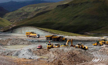La mina de Conga. Foto © La República, Perú.