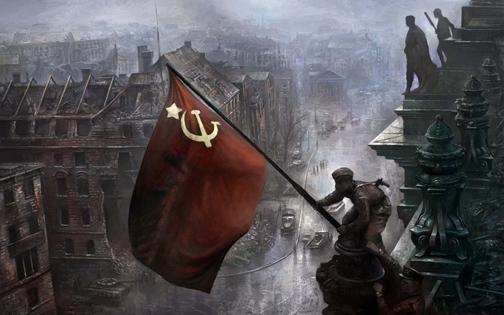La toma del Reichstag por el Ejército soviético.