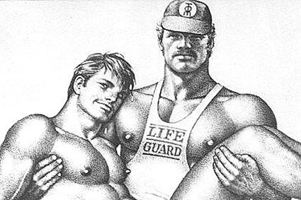 Ilustración de Touko Laaksonen, más conocido como Tom de Finlandia.