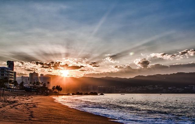 Atardecer en Acapulco.