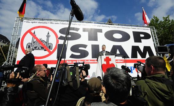 Manifestación contra el islam en Alemania.