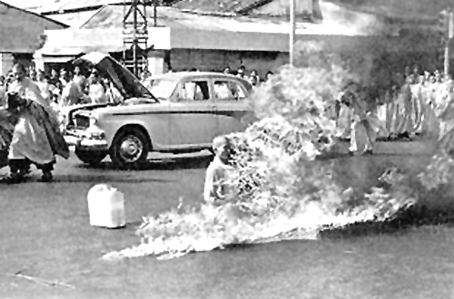 Monje budista en Saigón, 1963