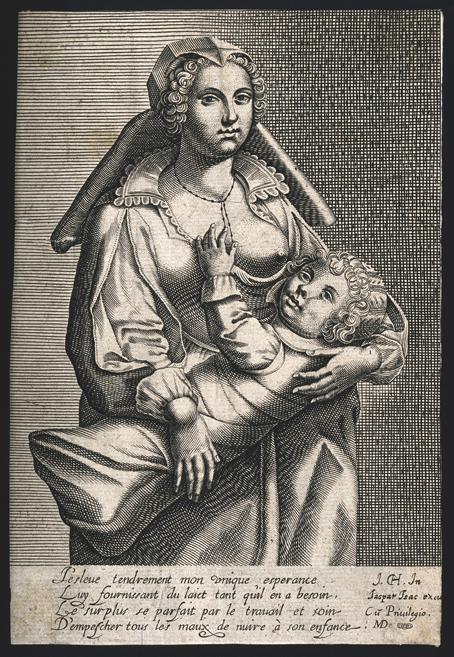 Madre amamantando, ca. 1500.