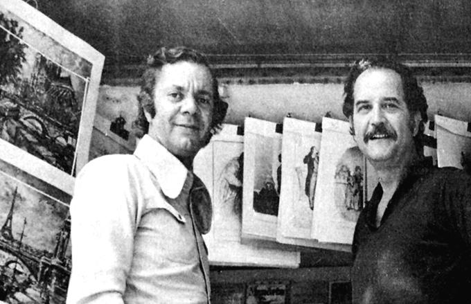 James R. Fortson y Carlos Fuentes en París.