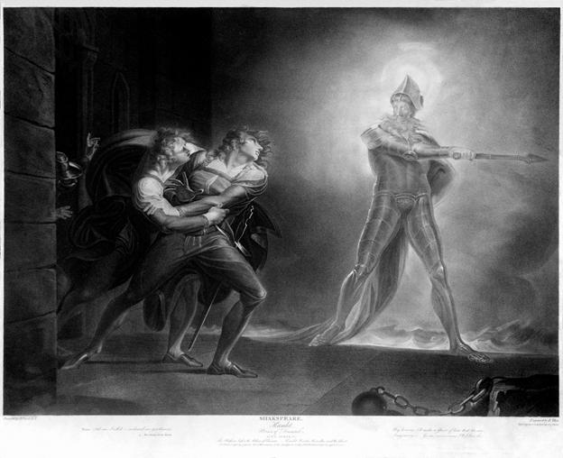 Hamlet, Príncipe de Dinamarca, Acto I Escena IV. Henry Fuseli, 1796.