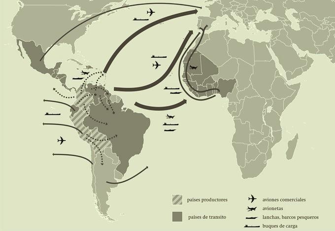 Las rutas de la coca.