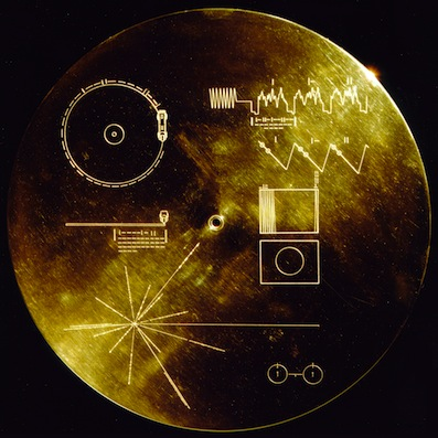 Sonidos de la Tierra en el disco de oro del Voyager.