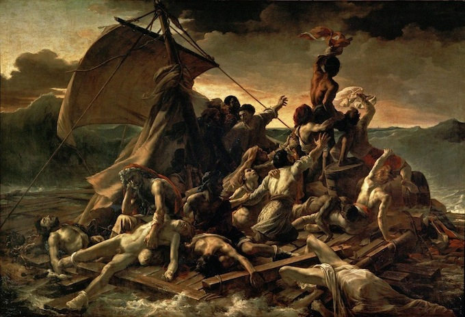"Théodore Géricault, ""La balsa de la Medusa"", 1818–1819."