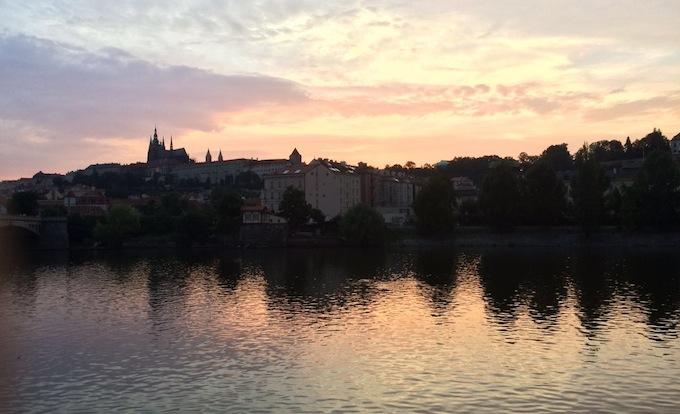 El río Moldava.