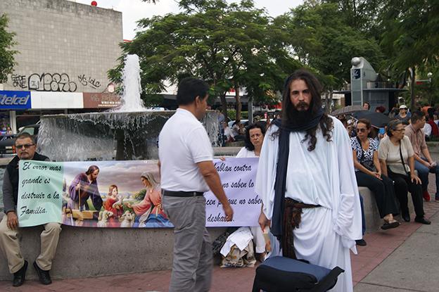Jesús contra los gays. Foto © Juan Carlos Núñez.