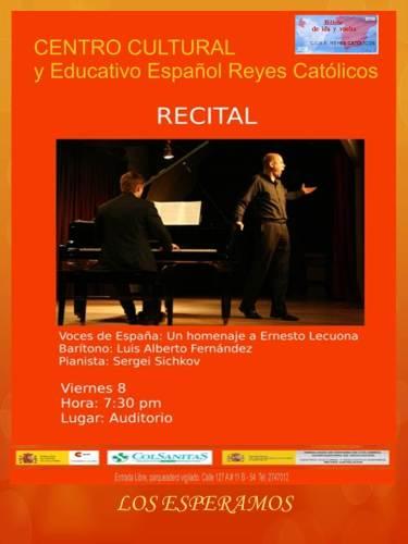 CCEE Reyes Católicos. Recital Voces de España