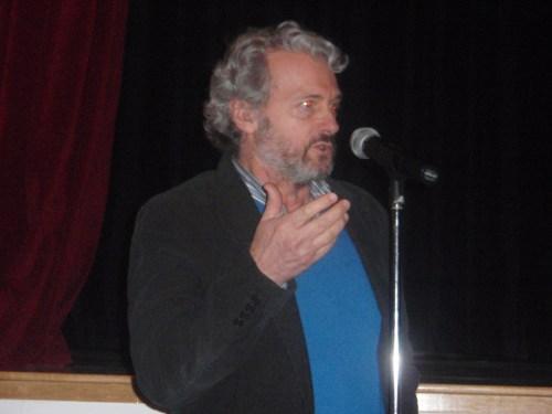 Sergio Cabrera, presentando la película
