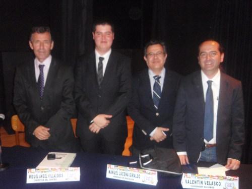De izquierda a derecha, Miguel Ángel Villalobos, Mauricio Revelli, Manuel Lucena y Valentín Velasco