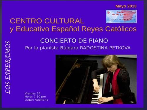 CCEE Reyes Católicos. INVITACIÓNPIANO