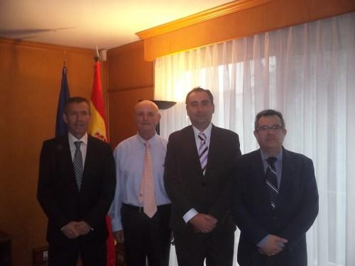 De izquierda a derecha, Miguel Ángel Villalobos, Nicolás Martín, Luis Fernández y Manuel Lucena.