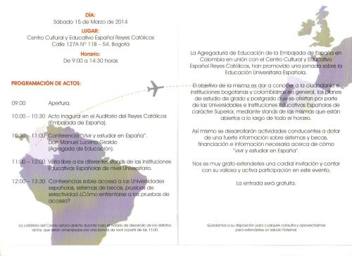 CCEE Reyes Católicos. Universidades españolas