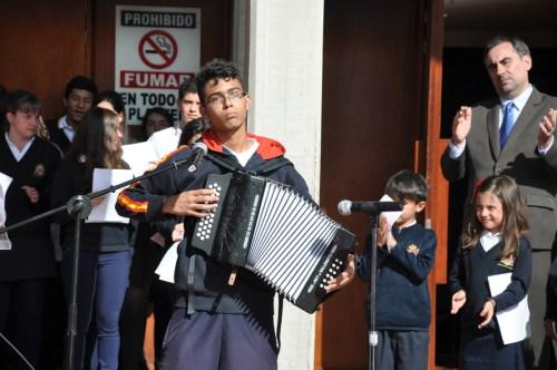 Luis Felipe Barreto interpretó un Vallenato dedicado a García Márquez (Fotografía Juan Francisco Zuleta Orjuela)