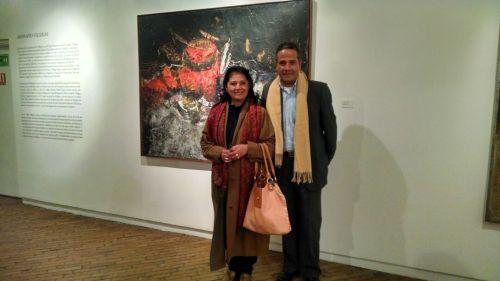 Diego Villegas y su hermana, hijos del artista Armando Villegas.
