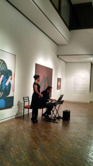 La  soprano Karolyn Rosero y el pianista Hernán Herrera en pleno recital.