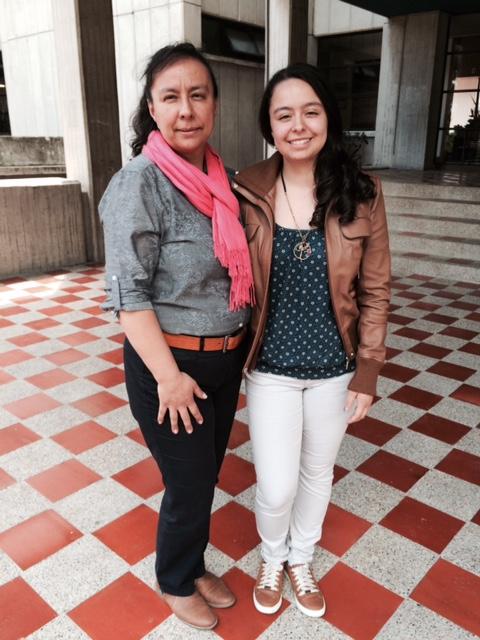 Carolina Alzate Quiroga, junto a su madre Katia Marcela Quiroga