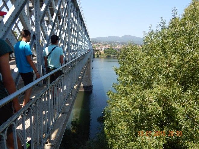 Frontera entre Tuy (Galicia, España) y Valença (Minho, Portugal)