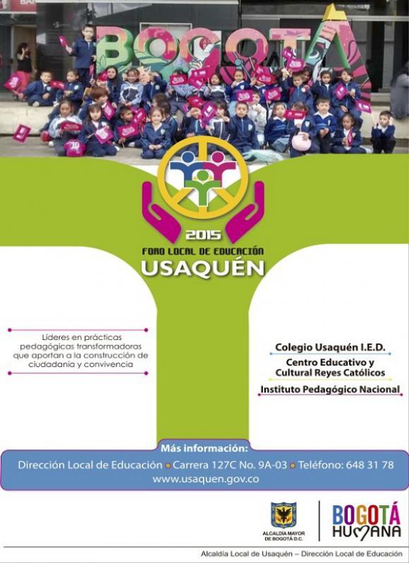 Cartel del Foro Educativo Local de Usquén 2015