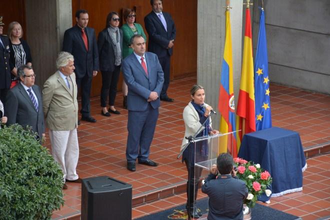 La Alcaldesa de Usaquén Julieta Naranjo agradeció la colaboración institucional del CCEE Reyes Católicos