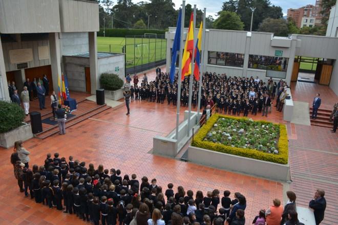 Un momento del acto de inauguración del curso 2015-16, en el que se celebra el 35 aniversario de la creación del CCEE Reyes Católicos