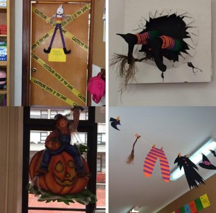 Varias imágenes terroríficas de protagonistas del Halloween.