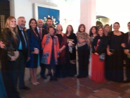 Grupo de profesores en el concierto en el Museo Nacional.