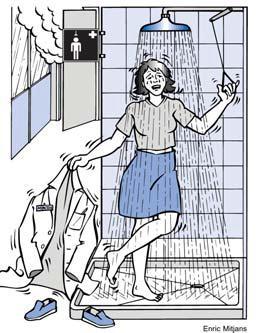 Duchas de seguridad cómo suarlas