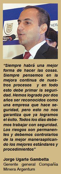 Palabras sobre la seguridad de Jose Ugarte Ganmbetta