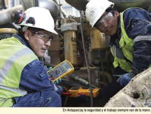 Antapaccay y el trabajo seguro