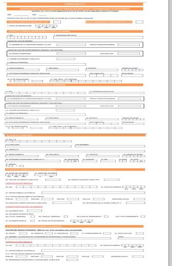 Formulario 2 del registro único de información sobre accidentes de trabajo