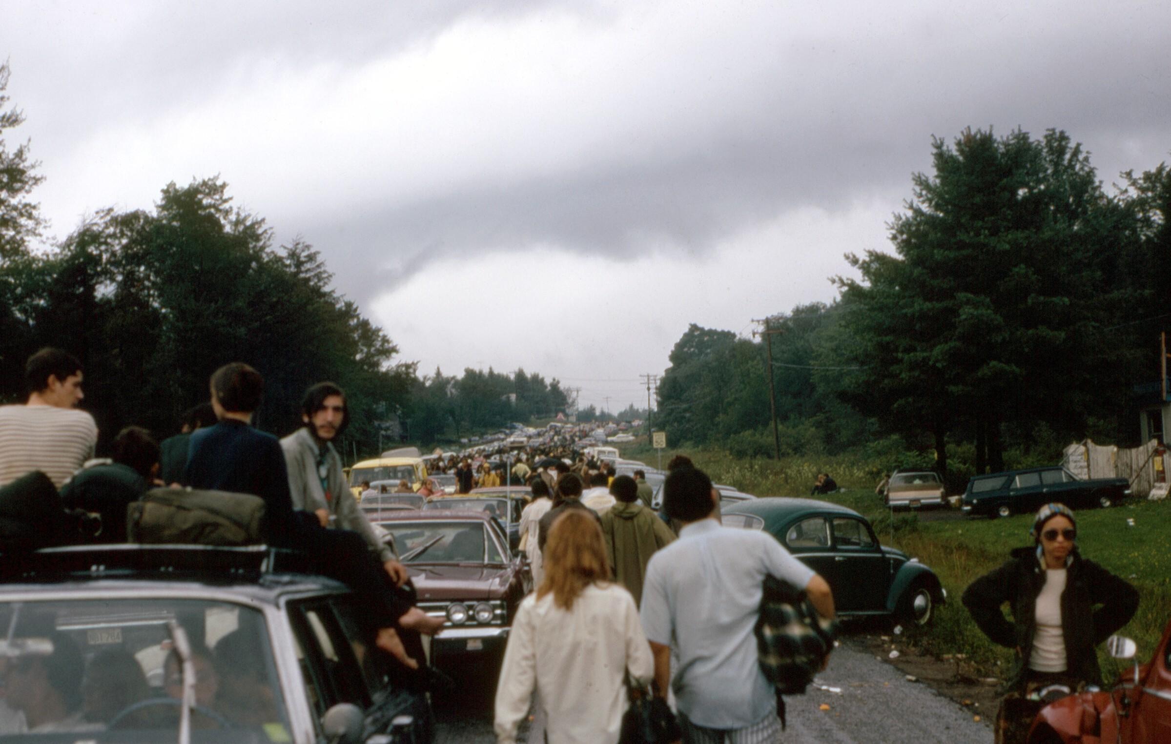Atascos Woodstock 1969