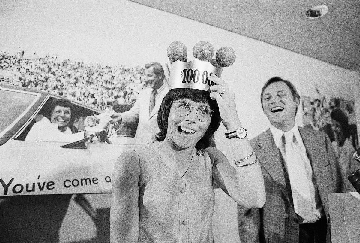 Billie Jean King se convirtió en la primera mujer en ganar 100.000 dólares