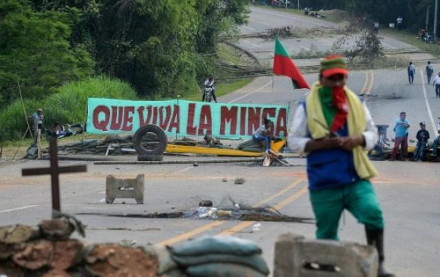 Los bloqueos en la vía Panamericana cumplen una semana. FOTO AFP