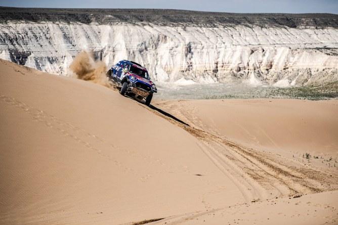 O Mini de Jakub Przygonski foi terceiro no Rali do Cazaquistão