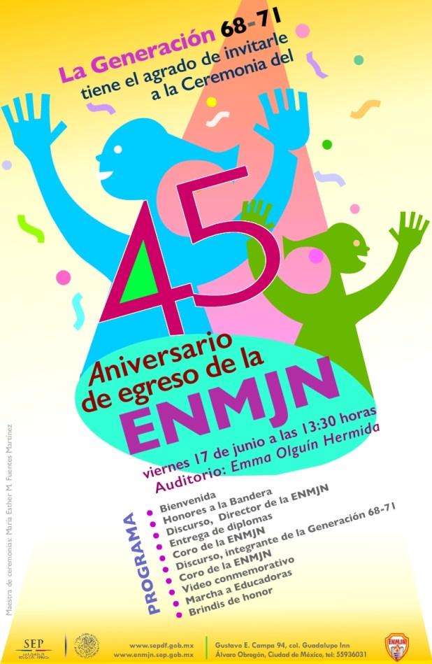 45 Aniversario de egreso ENMJN