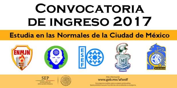 Convocatoria de ingreso 2017 estudia en las normales de for Convocatoria de docentes 2017